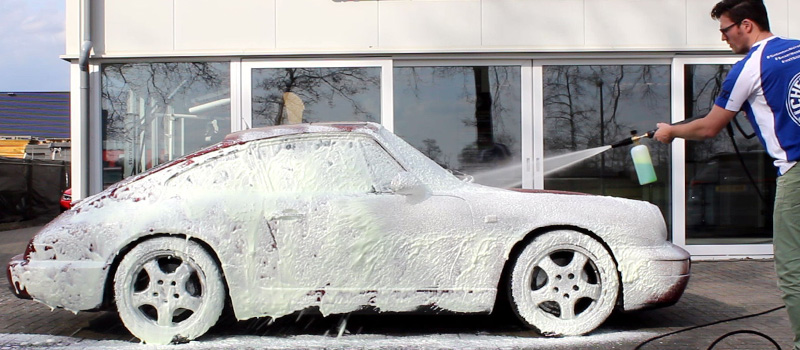how to use snow foam