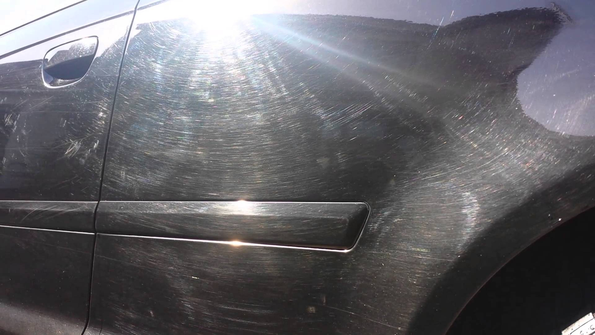 car wash swirl marks